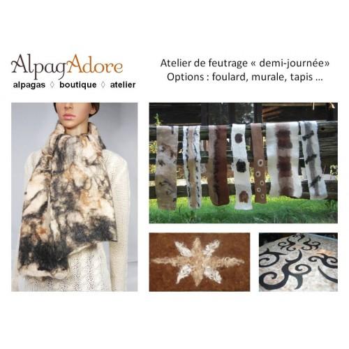 Atelier grand foulard, tapis ou murale (demi-journée)