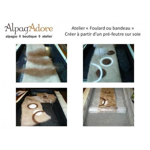 Atelier : mini foulard ou bandeau feutré