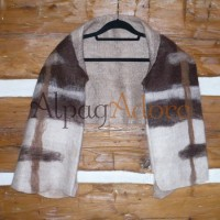 Boléro / foulard double - 100% alpaga naturel - feutré