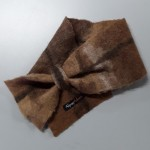 ** NEW ** Small scarf neck warmer : Felted in natural alpaca : shades of caramel brown chocolate