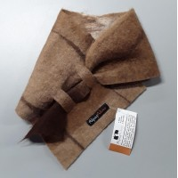 Alpaca Neck warmer / scarf in natural alpaca : shades of caramel brown chocolate