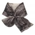 ** NOUVEAU ** Cache-cou foulard simple : feutré en alpaga naturel : couleur marbré gris sur blanc