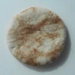 Béret français feutré 100% alpaga naturel : marbré blanc et brun caramel : béret pour femme ou homme