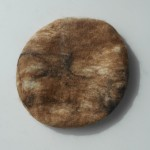 French beret 100% natural felted alpaca : marbled brown with black : womens beret / mens beret