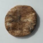 Béret français feutré 100% alpaga naturel : marbré brun caramel et noir : béret pour femme ou homme