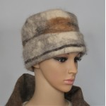 Felted hat : 100% natural felted alpaca : womens tuque / mens tuque