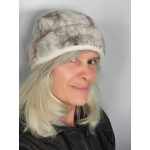 Felted tuque with rim : 100% natural felted alpaca : unisex for women or men