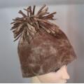 ** Nouveau ** Tuque alpaga avec pompon / chapeau feutré : 100% alpaga naturel