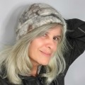 Felted beanie hat : 100% natural felted alpaca : unisex for women or men