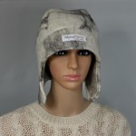 Chullo style hat with ear protection : lined / reversible : 100% natural felted alpaca : womens tuque / mens tuque
