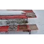 Coussin isolant pour banc : alpaga naturel