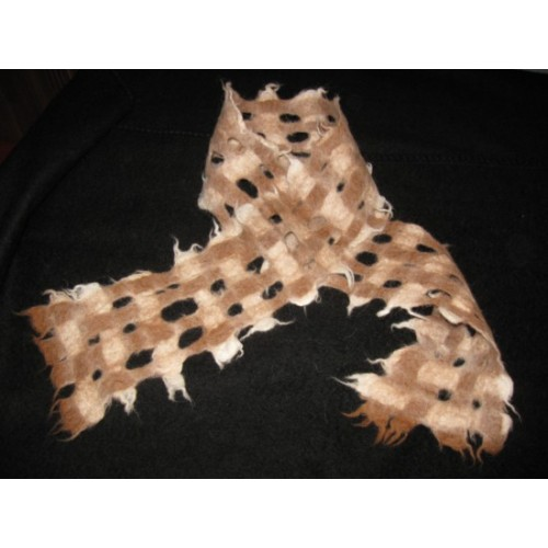 Felted scarf - 100% natural alpaca