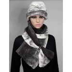 Large scarf 100% natural felted alpaca : silver grey and charcoal : womens scarf / mens scarf