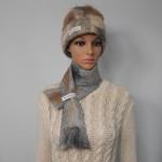 Foulard feutré 100% alpaga naturel : couleur Gunsmoke gris argent marbré : foulard pour femme ou homme