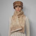 Grand foulard réversible 100% alpaga naturel : foulard pour femme ou homme