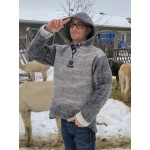 Pullover hoodie - Men's alpaca hooded sweater