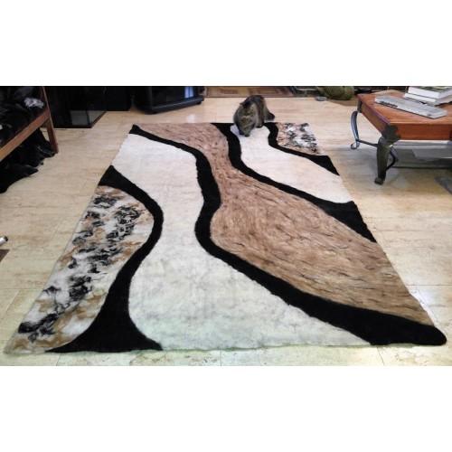 "Alpaca carpet : ""Fluid alpaca"" design : ecological natural hypoallergenic: 160 x 260 cm (63""x102"")"