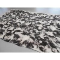"""Tapis alpaga design marbré : écologique naturel hypoallergénique : 54x90cm (21x36"""")"""