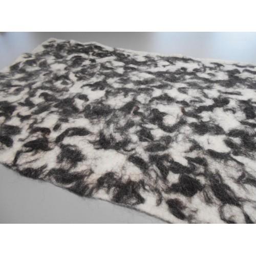 """Tapis alpaga design marbré : écologique naturel hypoallergénique : 54 x 90 cm (21x36"""")"""