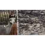 Natural hypoallergenic ecological throw : 100% alpaca : 90cm x 150cm