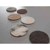 Felted coasters in natural alpaca : set of 4