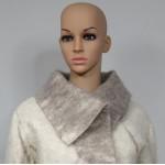 Three-quarter coat with belt and large collar - 100% natural alpaca