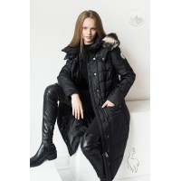 ROYAL coat : Full-length alpaca insulated winter coat : womens winter coat