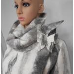 Manteau / veste 100% alpaga naturel - design ligné