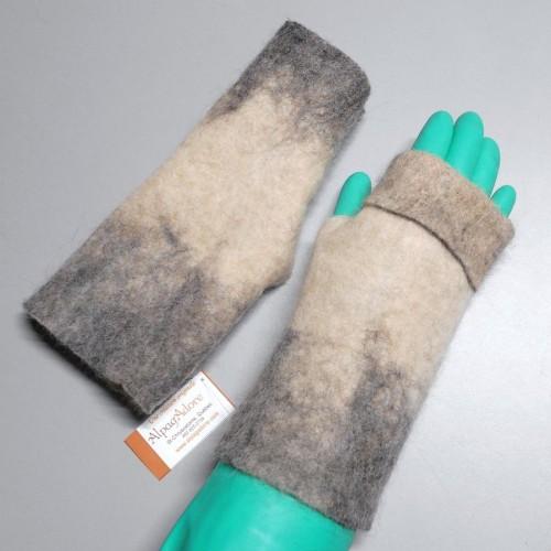 gants sans doigts alpaga superfin feutr s main. Black Bedroom Furniture Sets. Home Design Ideas