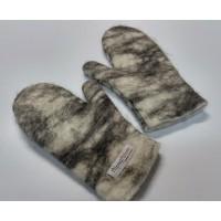 Felt mittens 100% natural alpaca: mittens for women or men