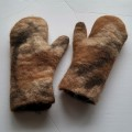 Felt mittens 100% natural alpaca: mittens for women or men