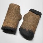 Fingerless gloves - superfne alpaca - hand felted