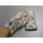 Fingerless gloves - superfne alpaca - hand felted