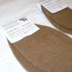 Felted alpaca insoles : small (children)