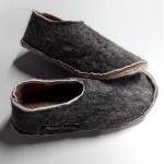 Pantoufles alpaga - semelles feutre double