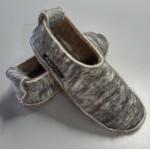 Pantoufles alpaga - semelles feutre double avec antidérapant faux cuir et languette au talon