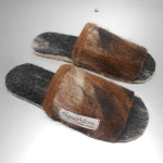 Felted Alpaca Slippers - open end