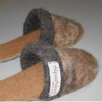Felted Alpaca Slippers - double thick base - closed end