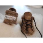Pantoufle bottine pour bébé - alpaga naturel superfin, écologique et hypoallergénique