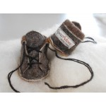 Bootie style Baby Slippers - natural alpaca, superfine, ecological, hypoallergenic