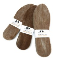 3-PACK : Felted alpaca insoles reinforced with jute : adult men and women sizes