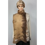 Unisex sleeveless vest - mandarin collar - 100% natural alpaca
