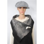 Long vest 100% natural alpaca - Koda black, Gunsmoke grey