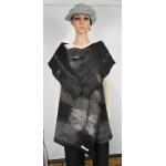 Veste longue 100% alpaga naturel - noir Renoir, gris Gunsmoke