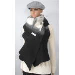Long vest 100% natural alpaca - Koda black, Kala white, Gunsmoke grey