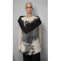 Sleeveless vest 100% natural alpaca - Koda black, Kala white, Gunsmoke grey