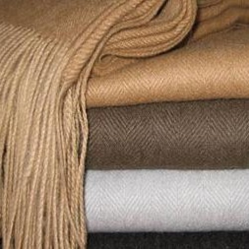 Woven alpaca throw - 100% baby alpaca (Peru import)