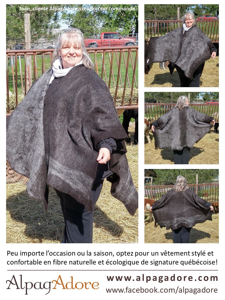 alpaca ruana shawl