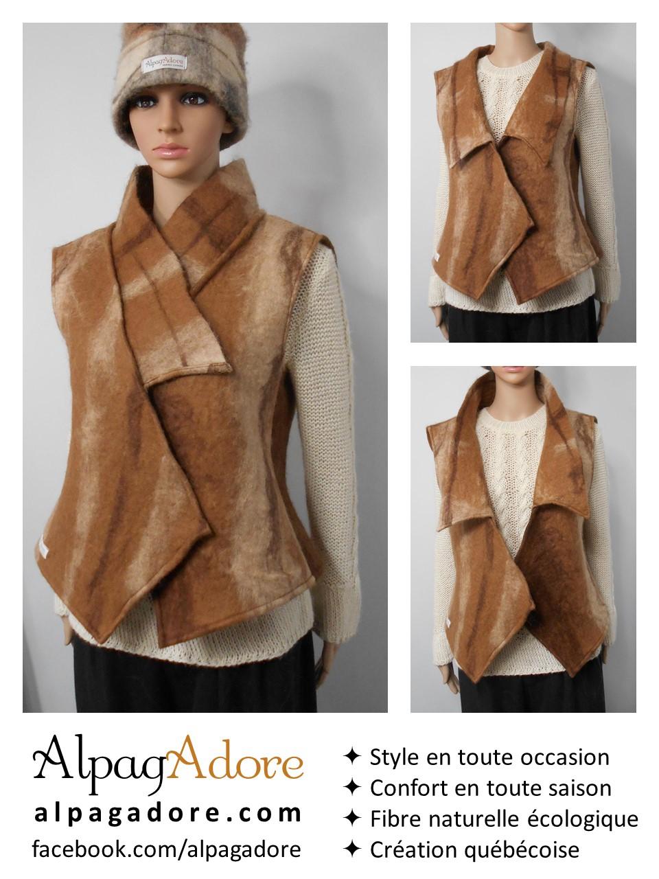 sleeveless alpaca vest