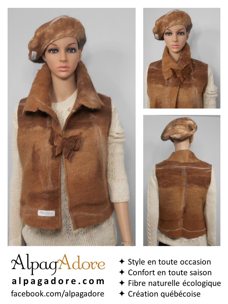 veste alpaga sans manches